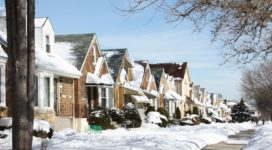 Chicago Neighborhood Fact Book- houses with snow