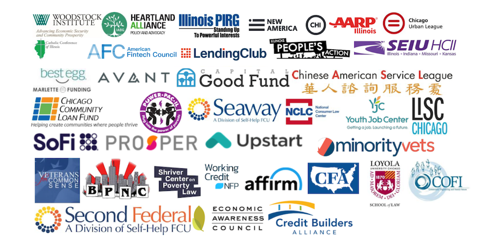 About 40 group logos of PLPA backers