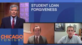 photo of WTTW Chicago Tonight segment on student loans
